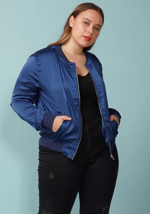 Asoph Plus Size Zip Up Lightweight Jacket