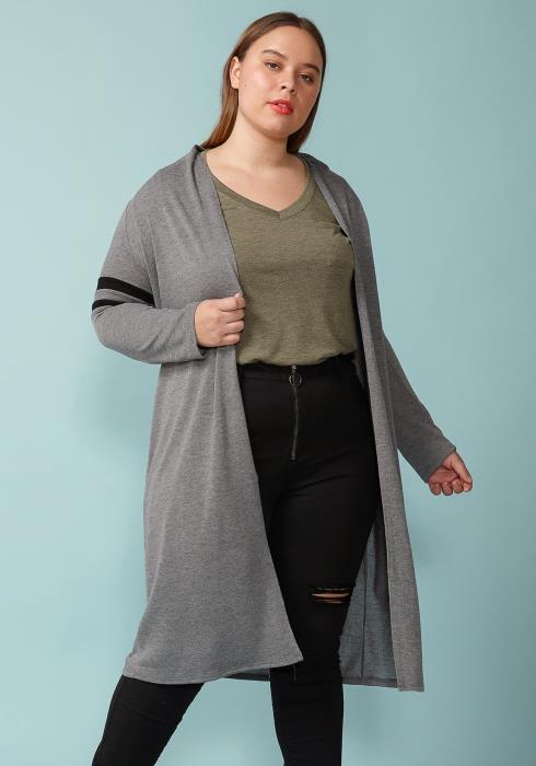 Asoph Plus Size  Long Sleeve Cardigan