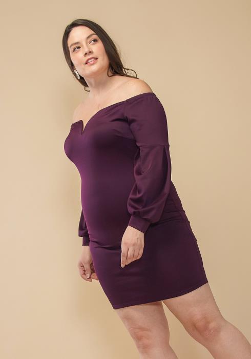 Asoph Plus Size Off Shoulder Cocktail Dress