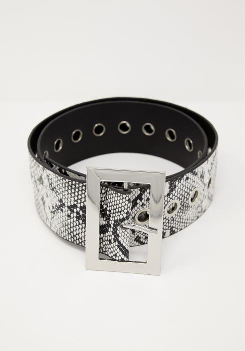 Snake Print Fashion Belt