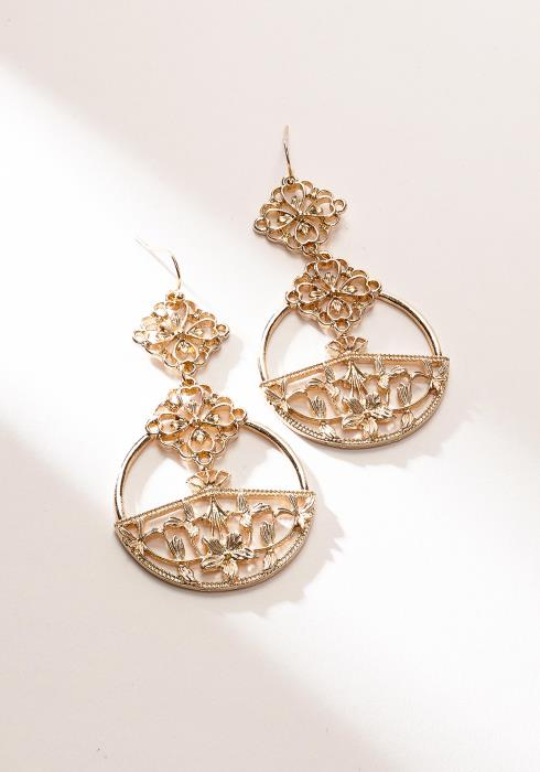 Antique Drop Gold Earring