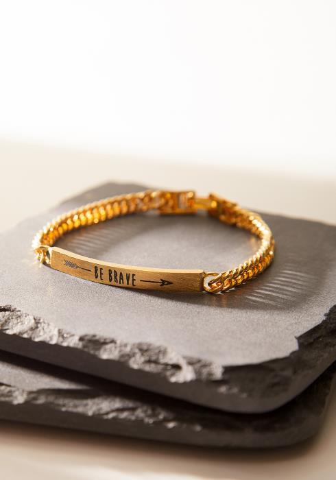 """""""Be Brave"""" Bracelet"""