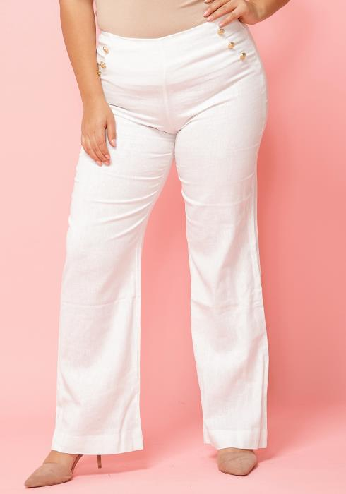 Asoph Plus Size Sailor High Waist Pants