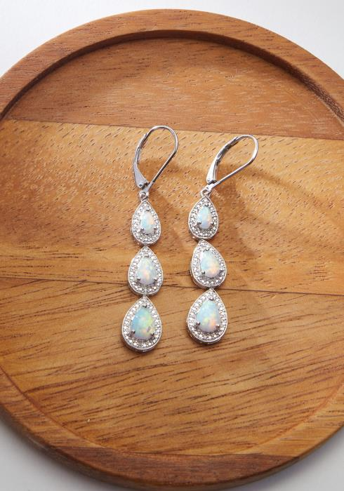 STERLING SILVER TEAR DROP EARRING