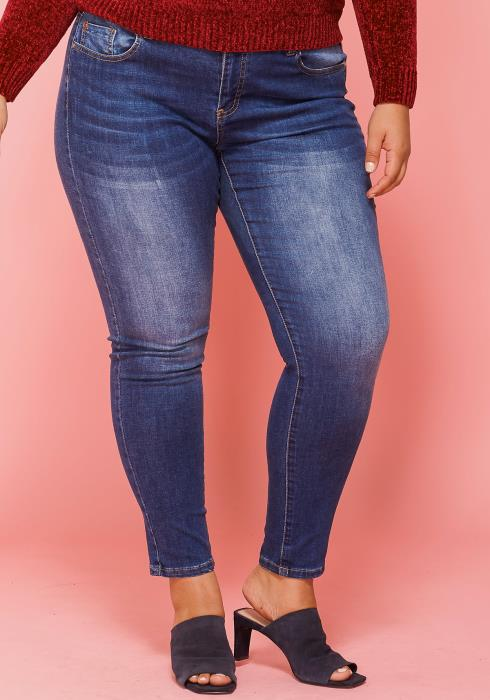 Asoph Plus Size Everyday Medium Blue Skinny Jean