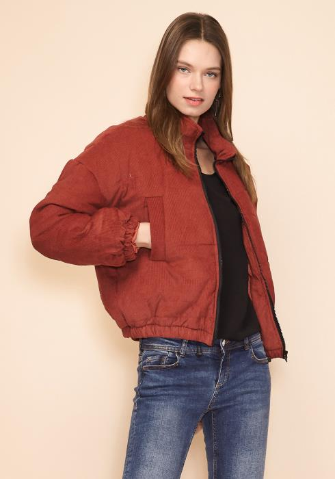 Asoph Womens Cozy Bomber Jacket