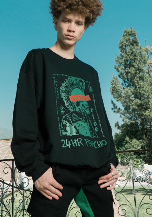 """Blank State """"24HR PSYCHO"""" Graphic Sweatshirt"""