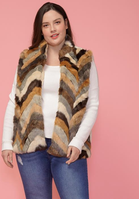 Asoph Plus Size Faux Fur Vest