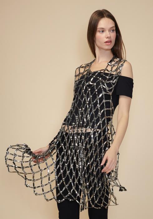 Sharona Fancy Hemetite Long Body Necklace