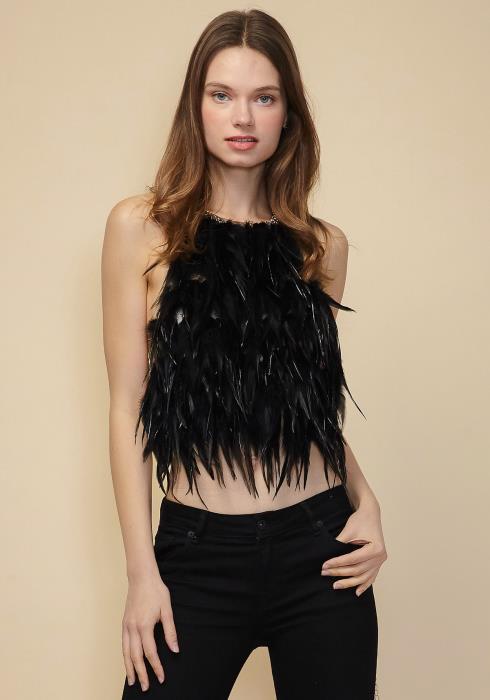 Sharona Feather Vest Necklace