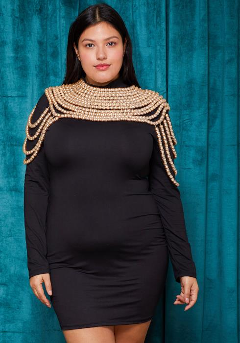 Sharona Pearl With Rondelle Draping Body Necklace