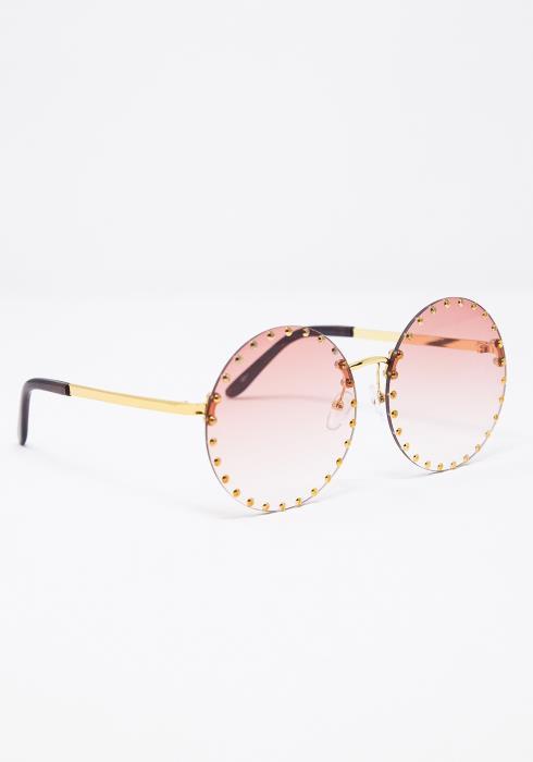 Fiona Studed Round Sunglasses
