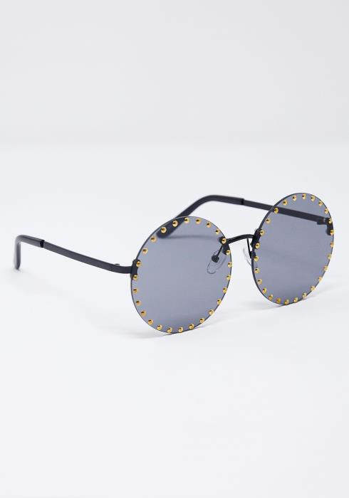 Fiona Studed Round Sunglasses