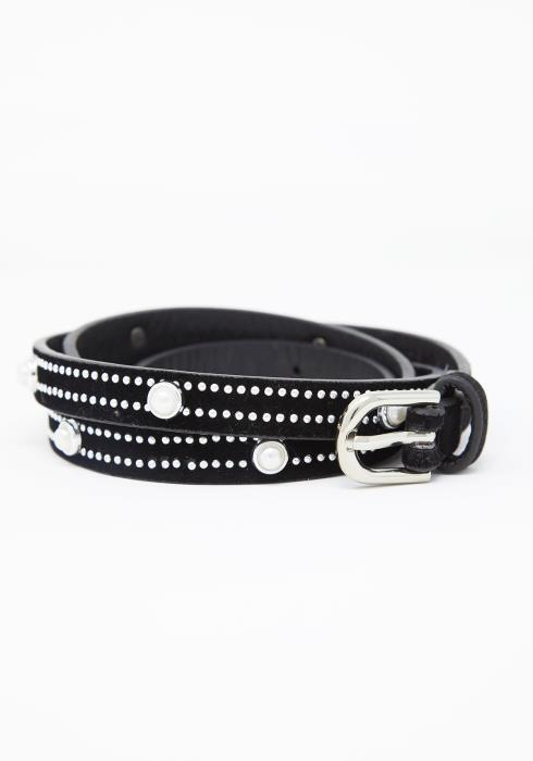 Pearl Studded Thin Belt