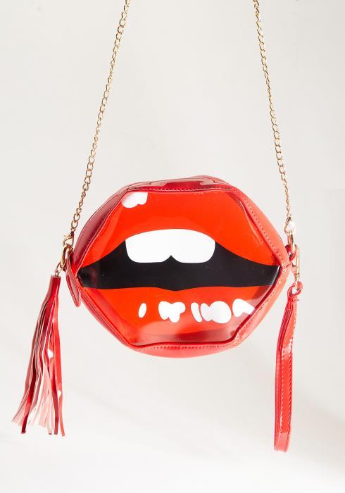 Clear PU Lip Shape Bag