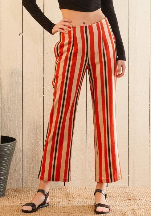 Nurode Hi-waisted  Cropped Pants