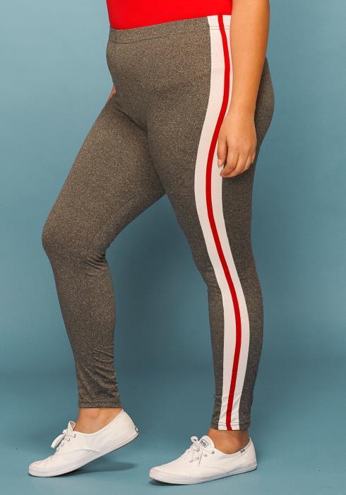 Asoph Plus Size Side Stripe Leggings