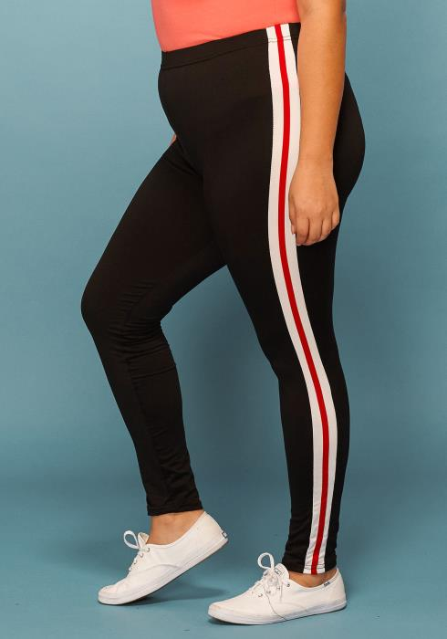Asoph Plus Size Side Stripe Leggings