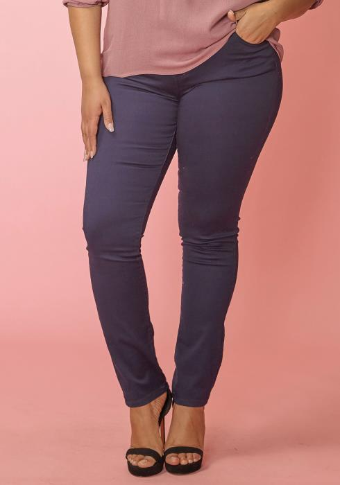 Asoph Plus Size Zip Up Skinny Denim