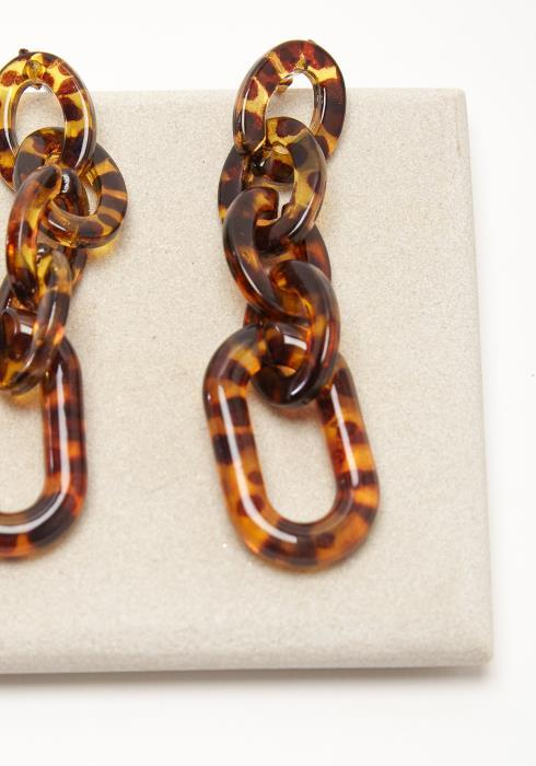 Leopard Drop Earring