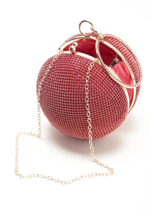 Round Crystal Ball Clutch