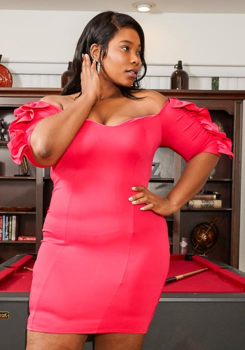 Asoph Plus Size Ruffle Sleeve Off Shoulder Party Dress