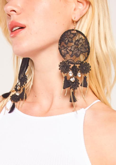 Sharona Fancy Lace Earring