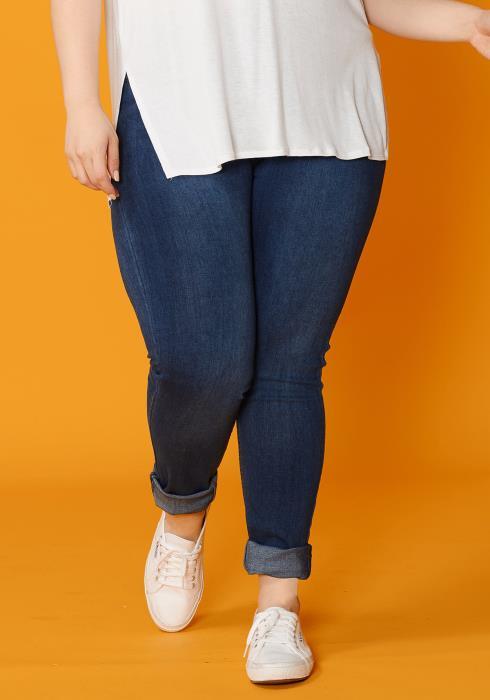 Asoph Plus Size Basic High Waist Skinny Jean
