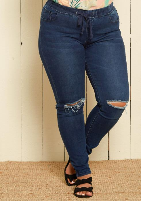 Asoph Plus Size Denim Jeggings
