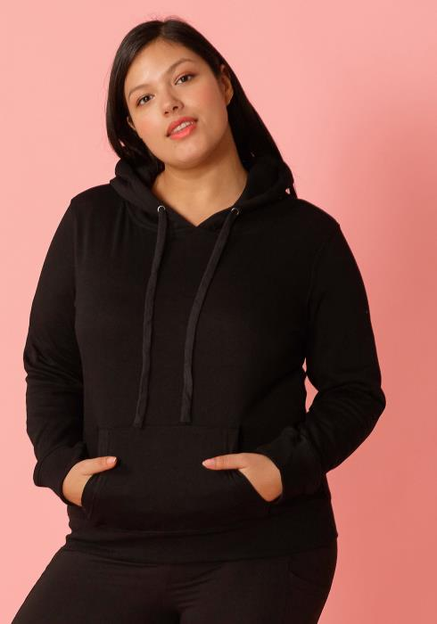 Asoph Plus Size Front Pocket Hoodie