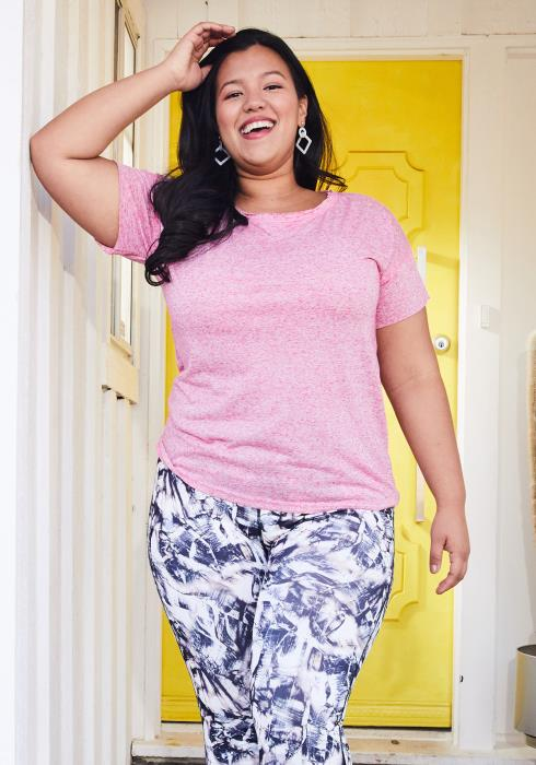 Asoph Plus Size Short Sleeve Tee