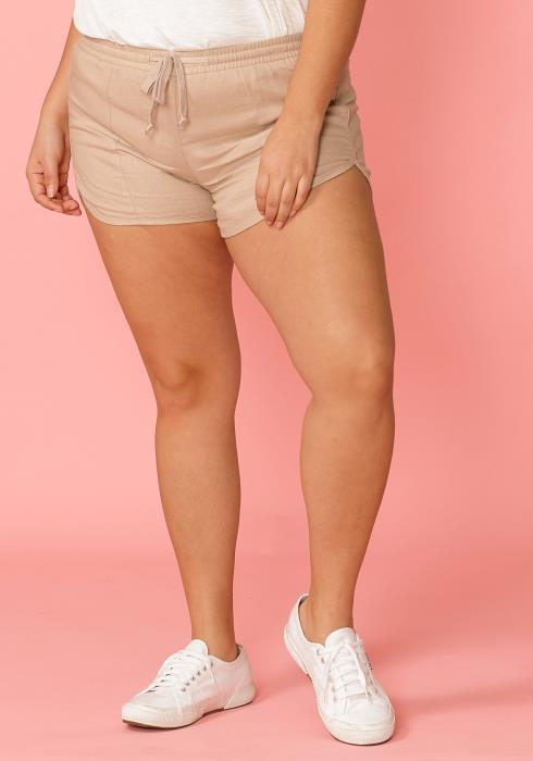 Asoph Plus Size Drawstring Shorts