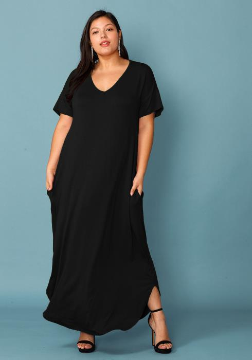 Plus Size Basic Tee Maxi Dress