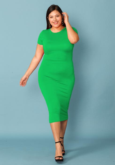Asoph Plus Size Super Simple Midi Dress