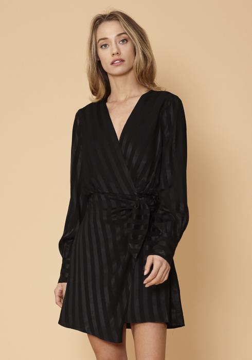 Nurode Stripe Satin Mini Dress
