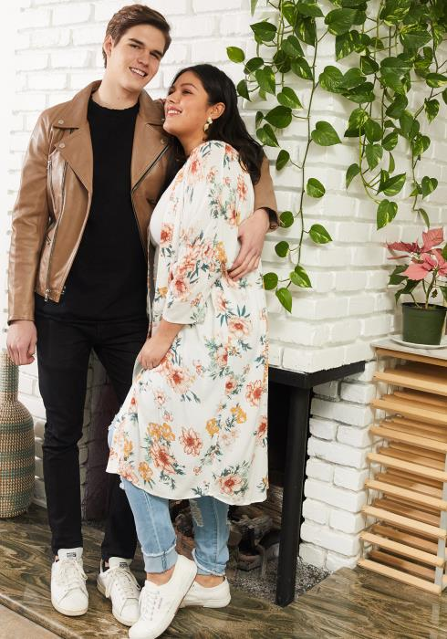 Asoph Plus Size Floral Lightweight Long Cardigan