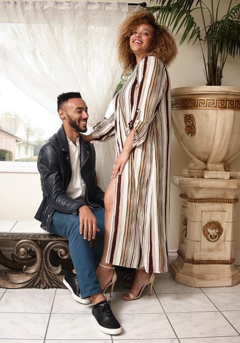 Asoph Plus Size Multi Stripe Button Up Maxi Shirt Dress