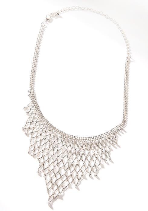 Net Cubic Fancy Necklace Silver