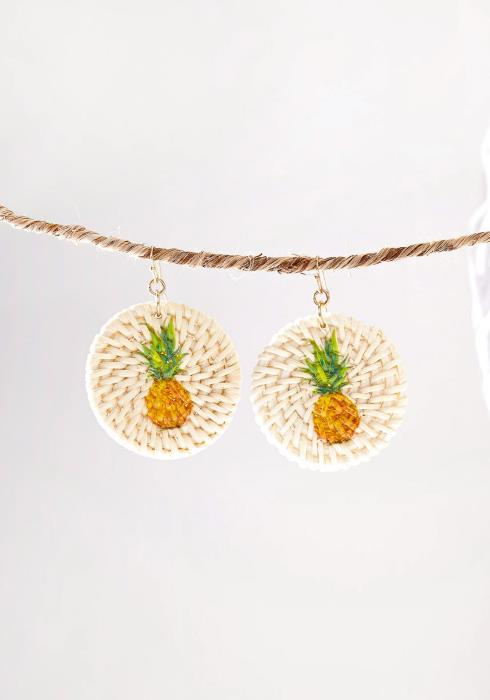 Pineapple Straw Earring