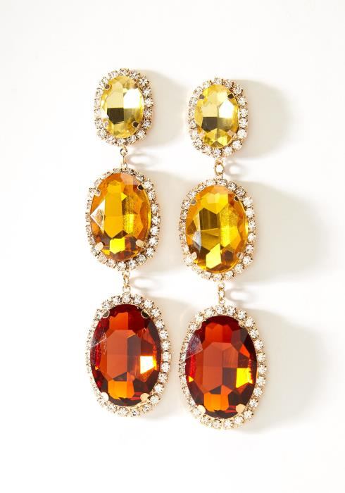 Color Jewel Stone Drop Earring