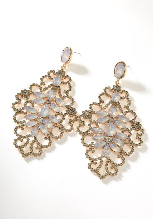Opal Drop Earring