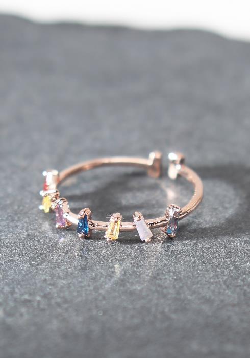 Multi Color Stone Ring