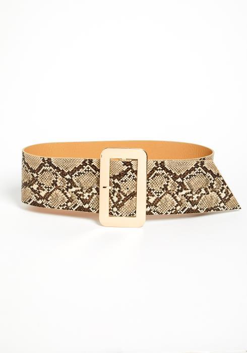 Avalyn Snake Printed Belt