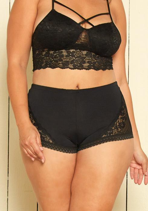 Asoph Plus Size Lace Boy Shorts Underwear