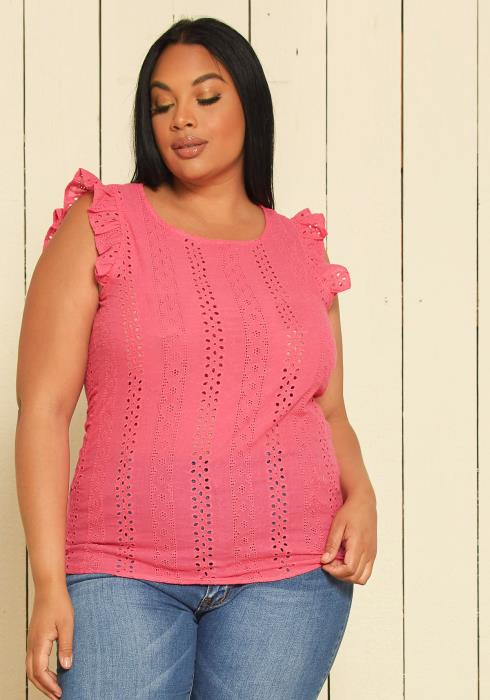 Asoph Plus Size Lace Top
