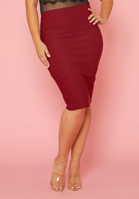 Asoph Plus Size High Waist Pencil Skirt