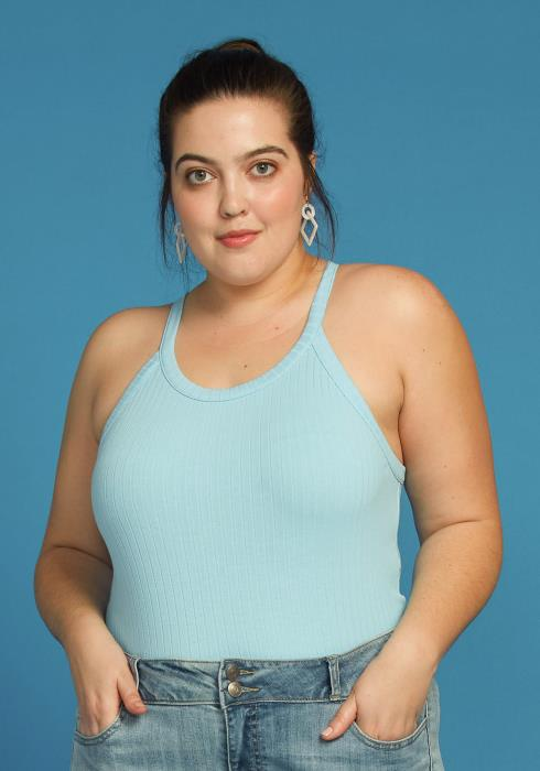 Asoph Plus Size Basic Halter Neck Cami
