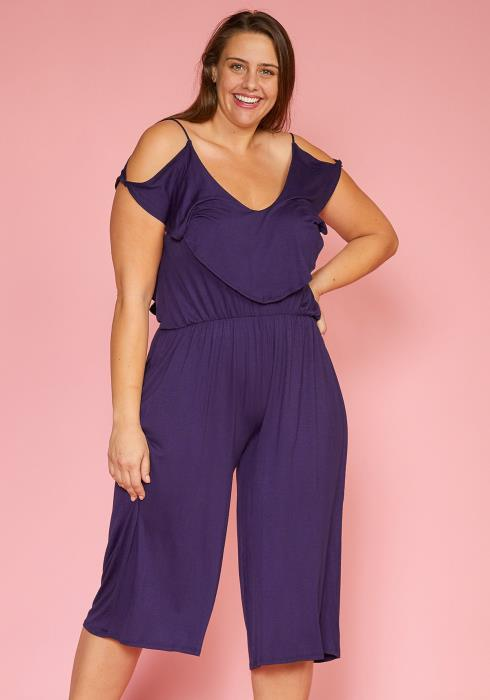 Asoph Plus Size Stretchy Cropped Jumpsuit