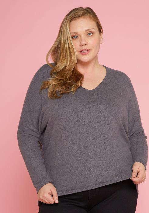Asoph Plus Size Oversize Loose Fit Sweater