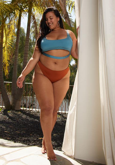 Aposh Plus Size High-Waist Bikini Bottom